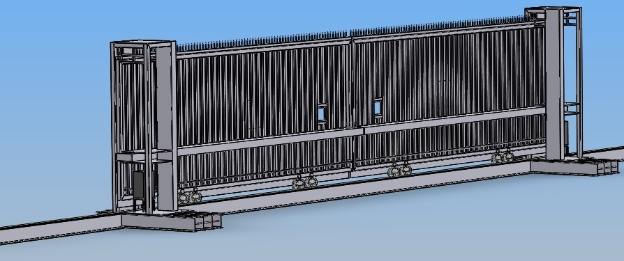 HIGH SECURITY STEEL SLIDING GATES