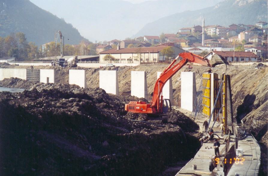 Karabük-Taşkın Koruma Duvar İnşaatları