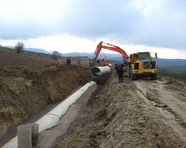 Vezirköprü Sulaması CTP Ana Boru Hattı İnşaası